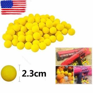 Image is loading 100Pcs-Bullet-Balls-Rounds-Compatible-For-Nerf-Rival-