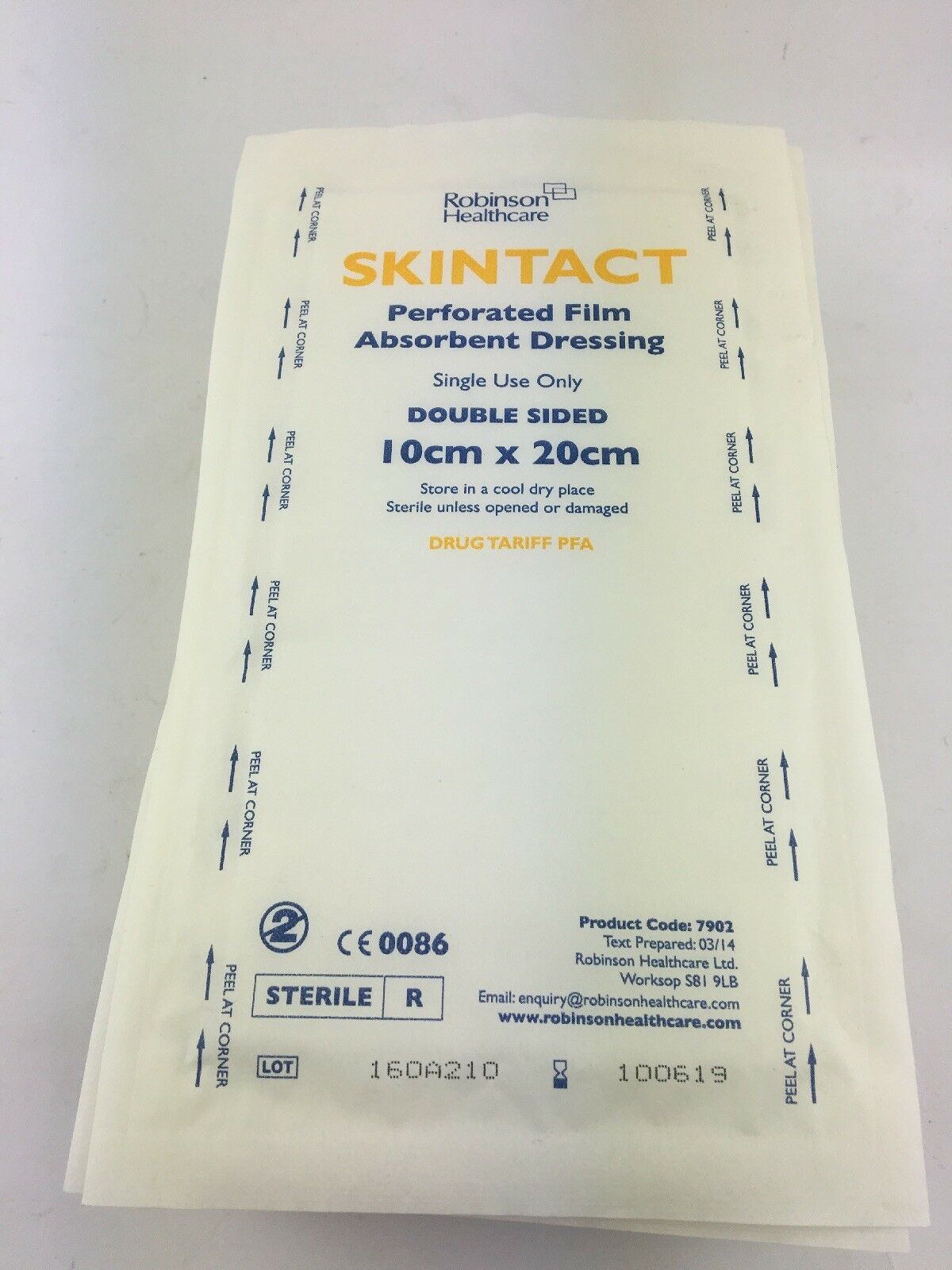 29 X Skintact Perforated Absorbent Wound Dressing Padded 10x20cm Double Double 10x20cm Sided 294364