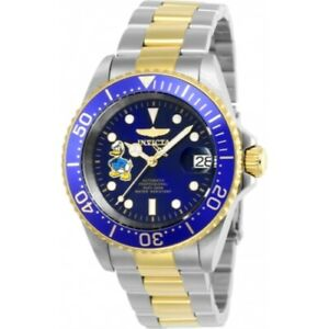 Invicta-24397-Disney-Automatic-Date-Donald-Duck-Stainless-Steel-Mens-Watch