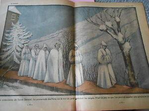 Abbaye-cistercienne-de-Tamie-Savoie-La-promenades-des-Peres-dessin-Print-1935