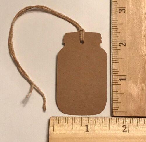 100 brown kraft cardstock CANNING MASON JAR Hang Tags price handmade FARMHOUSE