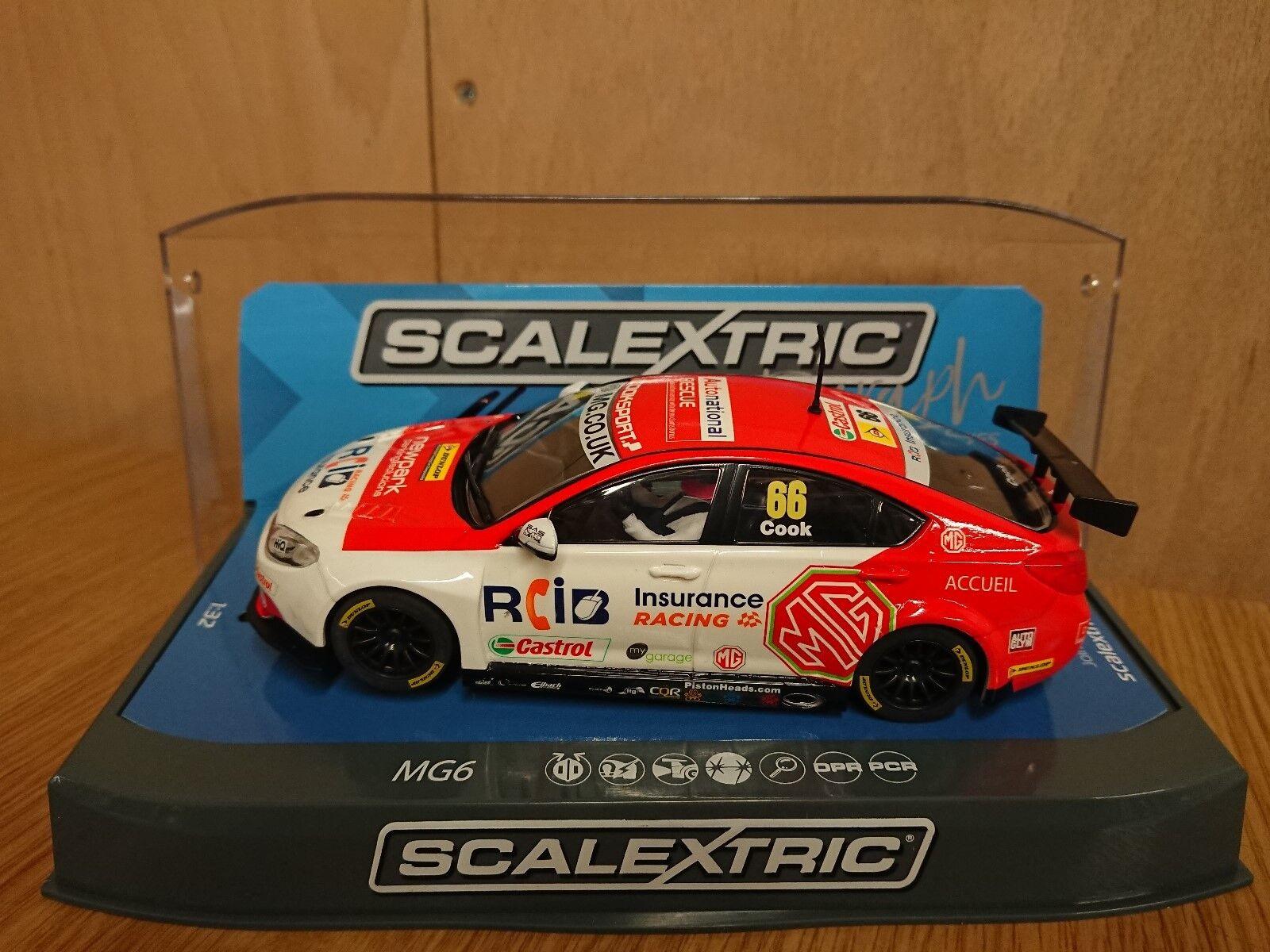 Scalextric C3863AE Signature Series MG6 BTCC 2016 Triple 8 Racing Josh Cook No66