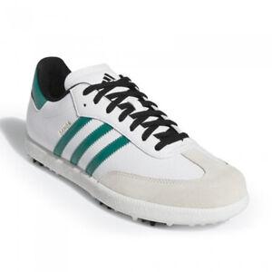 Details about adidas SAMBA Men's Golf Shoes White Green 3 Stripes Adiwear NWT G28380
