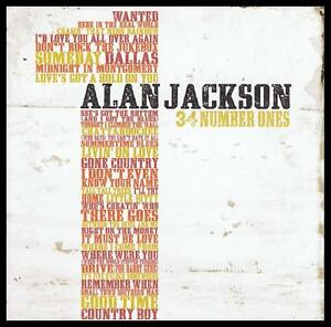 ALAN-JACKSON-2-CD-34-NUMBER-ONES-GREATEST-HITS-BEST-OF-NEW