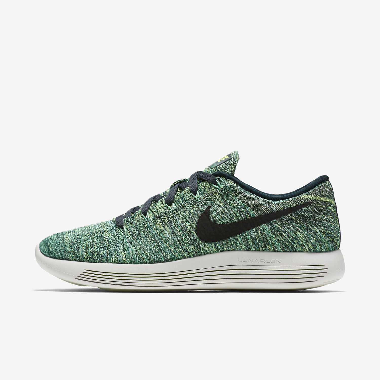 Nike LunarEpic Low Flyknit Mens Running 843764-300 804 Green Orang US Sz 10-10.5
