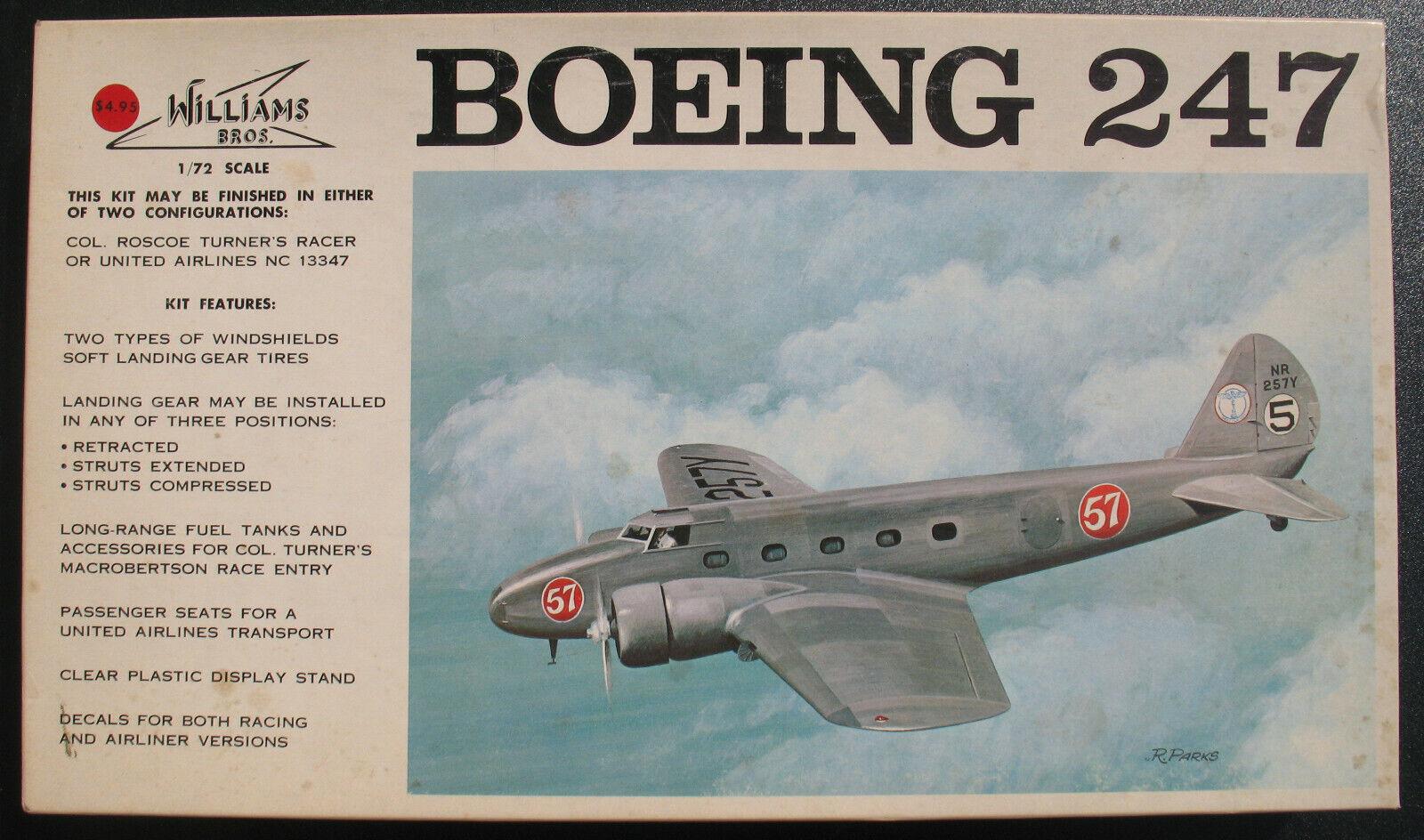 WILLIAMS BROS 72-247 - Boeing 247 - 1 72 - Flugzeug Modellbausatz Model Kit