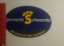 Aufkleber/Sticker: Gemeente Scheemda je kunt er niet omheen (2712163)