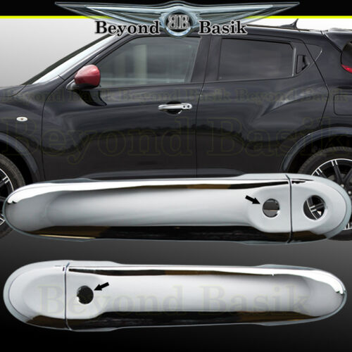 For 2011-2017 NISSAN JUKE Chrome Door Handle Covers Trims With SMART KEYHOLE