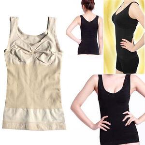 Fat Mujer Tirantes Control Camisola Faja Detalles Camiseta Reductor De Up Abdomen 2 Busto m08nwN