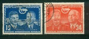 DDR-296-297-o-Tagesstempel-Deutsch-sowjetische-Freundschaft