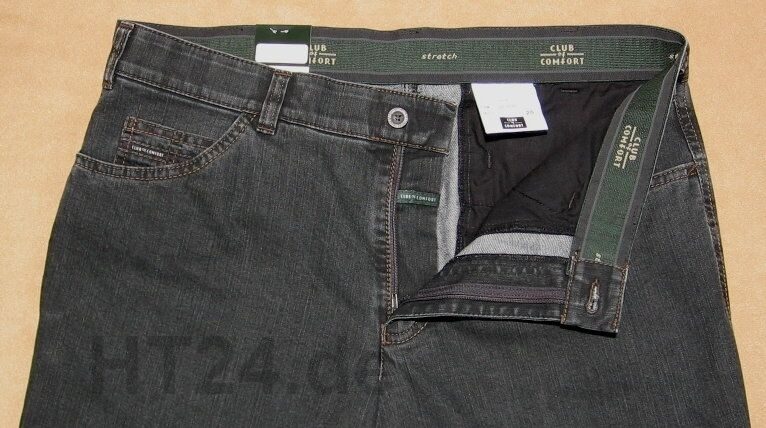 CLUB of COMFORT Stretch JEANS LIAM 4631 Gr. 24-32 48-60 in anthrazit