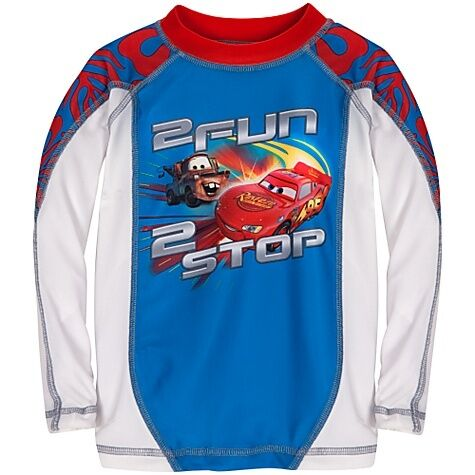 2 Mater Lightning Cars Mcqueen Rash Tow New Disney Shirt 3 Xxs Boys Swim Guard xCq7IS