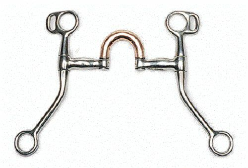 Stainless Steel Copper Mouth Correction Port Bit Horse Pony 5  mouth 7  shanks