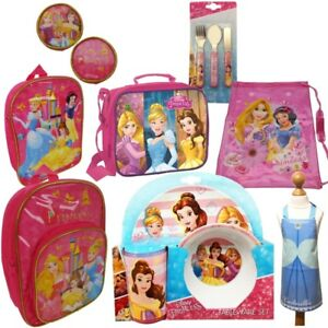 Details about Disney Princess School Bags and Gifts (Backpack, Lunch Bag, Mealtime Set, Apron)