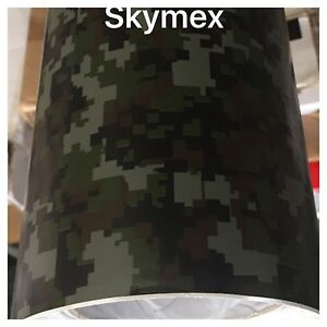 22dee45c95 Image is loading Skymex-DIGITAL-CAMOUFLAGE-Vinyl-Wrap-Sheet-Car-Wrapping-