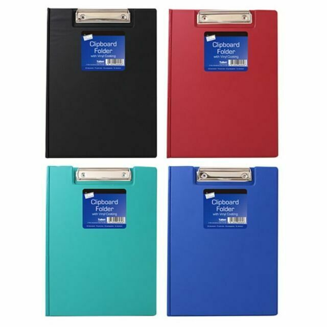 3x Quality A4 Clipboard Foldover  Document Holder With Clip