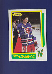 Brian-MacLellan-1986-87-O-PEE-CHEE-Hockey-33-MINT-Minnesota-North-Stars