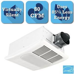 80 CFM Ceiling Exhaust Bath Fan Light Heater Combo Super ...