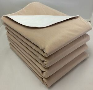 12-30x30 Washable Reusable Dog Training Puppy Pee Pads Piddle Potty Tan backing
