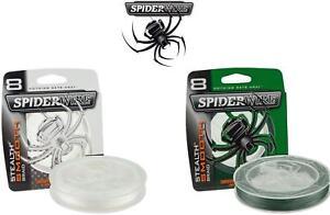 Spiderwire-stealth-lisse-8-lignes-tressees-2-couleurs-3-longueurs-carpe-peche-brochet