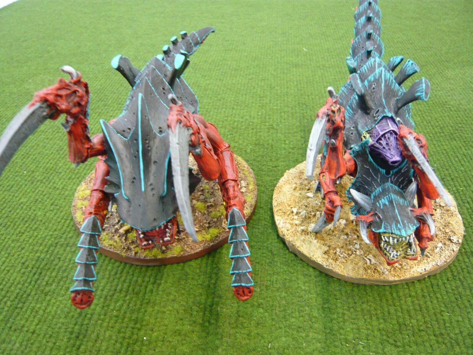Warhammer 40k Forgeworld Tyranid Hierodules Painted (2  modellolololos)  tempo libero