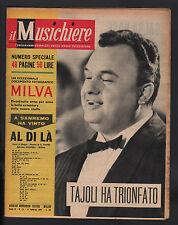 IL MUSICHIERE 111/1961 MILVA DONAGGIO TAJOLI SANREMO HENRY SALVADOR BLUEBELLS