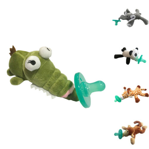BABY NIPPLE INFANT SILICONE PACIFIER WITH CARTOON ANIMAL PLUSH DOLL TOY NICE