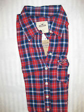 HOLLISTER BY ABERCROMBIE & FITCH DAMEN BLUSE FLANEL LONGARM GR S NEU