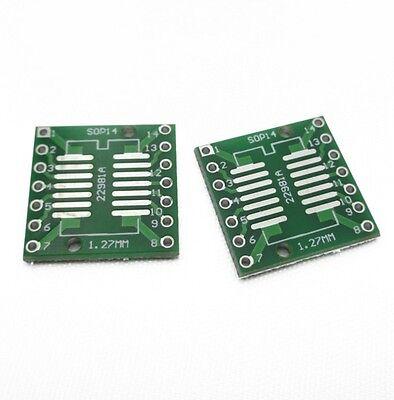 10PCS IC SOP14 SSOP14 TSSOP14 DIP 0.65/1.27/2.54mm Adapter PCB Board Converter
