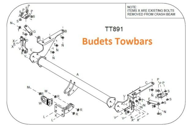 Toyota RAV 4 All Models Central No.Plate Only- Tow Trust Fixed Flange Towbar