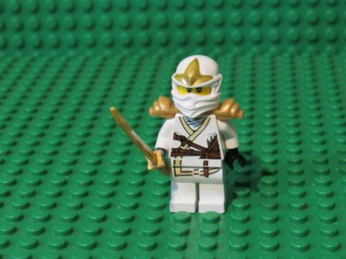 LEGO Ninjago Zane ZX Minifigure White Gold Helmet armor swords 30086 Z86