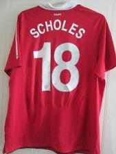 Manchester United 2010-2011 Home CL Scholes 18 Football Shirt Size XL /35663