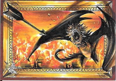 The Hobbit - Battle of Five Armies : Achilleas Kokkinakis sketch card - Smaug