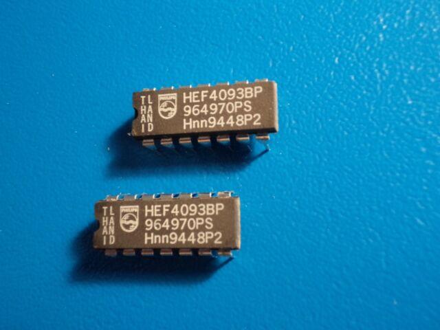 14PIN Qty = 2 NATIONAL CD4093BCN Quad 2 input NAND Schmitt Trigger