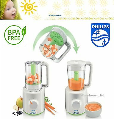 Philips Avent Combined Baby Food Steamer And Blender Compact Scf87021 Ebay