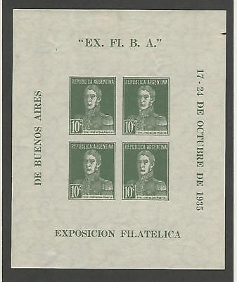 Argentinien, Briefmarke, #452 Postfrisch Mit Scharnier Blatt, 1935, Jfz