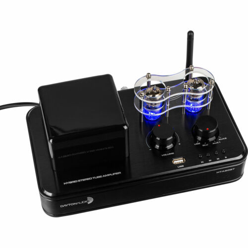 Dayton HTA20BT Hybrid Stereo Tube Amplifier with Bluetooth 4.2 USB