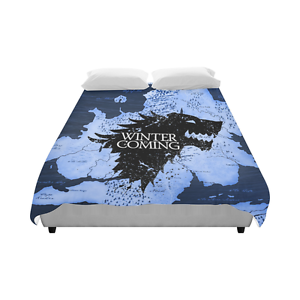 Image Is Loading Of Thrones Winter Coming Bedding Duvet