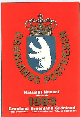 Europa Selbstlos Grönland,greenland,kalaallit Nunaat,briefmarken-jahresmappe 1983 Postfrisch