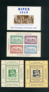 US-Stamps-Lot-of-4-Clean-1938-Exhibition-Sheets