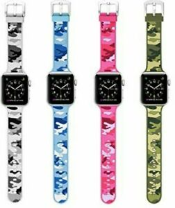 Set Of 4 Replacement Sport Camo Apple Watch Band Series 5 4 3 2 1 Strap Silicone Ebay