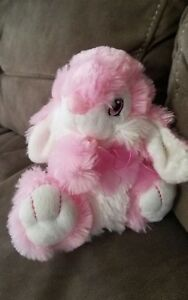Dan-Dee-8-Bright-Pink-Bunny-Rabbit-Plush-Stuffed-Animal-Toy-Easter-Gift-Soft