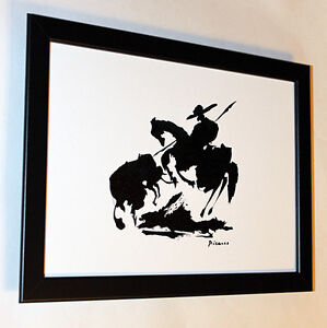 Pablo-Picasso-torero-framed-GICLEE-8-3X12-print-on-canvas