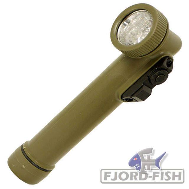 US LED WINKELTASCHENLAMPE SMALL OLIV ARMY MILITARY OUTDOOR CAMPING TREKKING