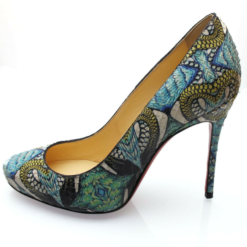 Louboutin  Amazing Elisa Python inferno 100 mm EU35.5, US5.5,  UK2.5  prezzi bassissimi