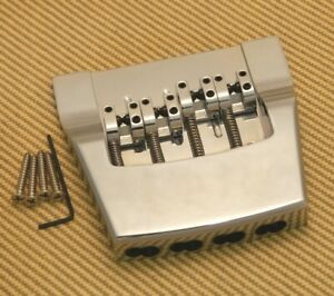 Brand Neu 4 String hipshot Rickenbacker Replacement Chrom Aluminium Bridge