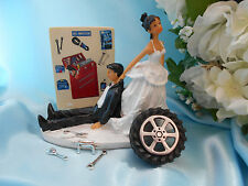 Grease Monkey Wedding cake Topper Tool MECHANIC Hispanic African American ETHNIC