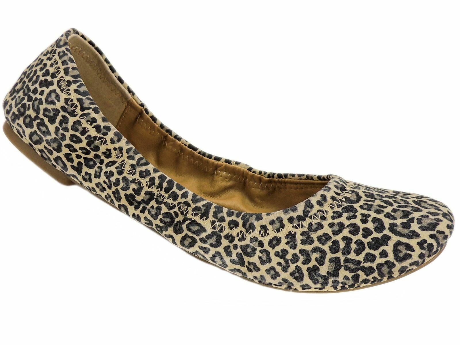 Lucky Brand Women's Emmie Slip On Ballet Flats Sesame Persian Leopard  59