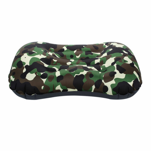 E898 Nylon Inflatable Pillow Neck Support Travel Neck Pillow Unisex Air Cushion
