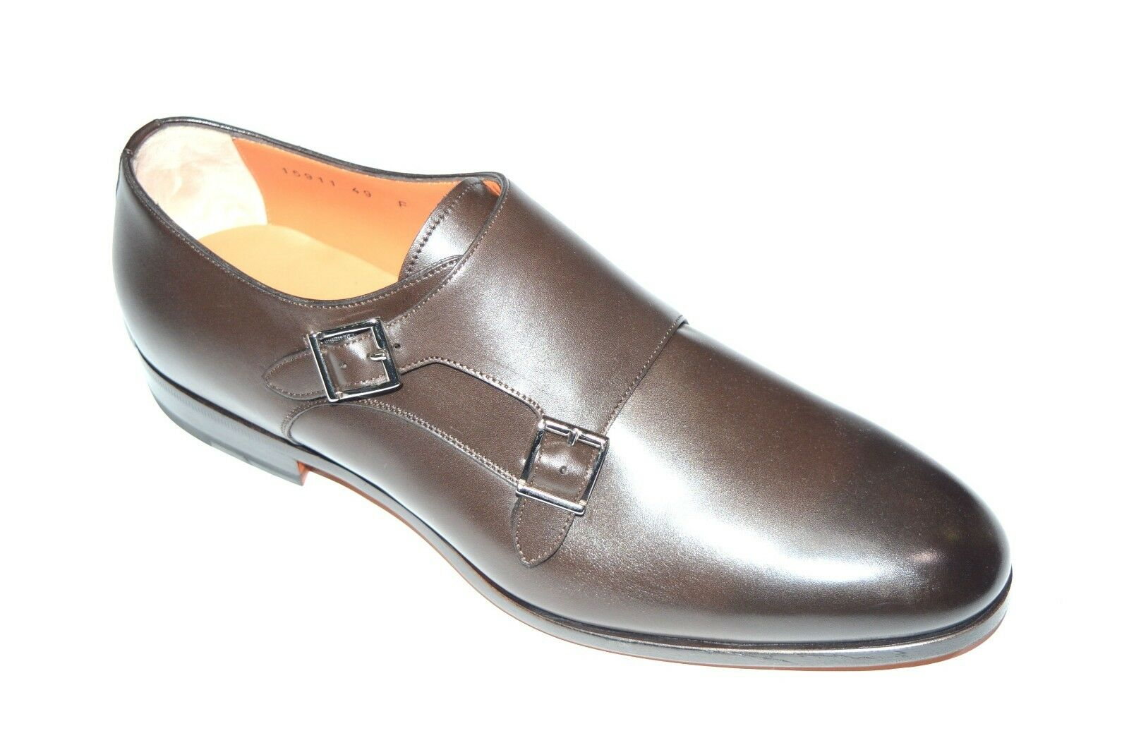 NEW SANTONI Dress Pelle Shoes Monk Strap Us SIZE Eu 41.5 Uk 7.5 Us Strap 8.5 (18R) b4521e
